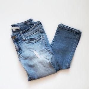 f21   Distressed Straight Leg Jeans